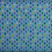 Crescendo Rain on Sky blue 100% Cotton Patchwork Quilting Fabric (£13pm)