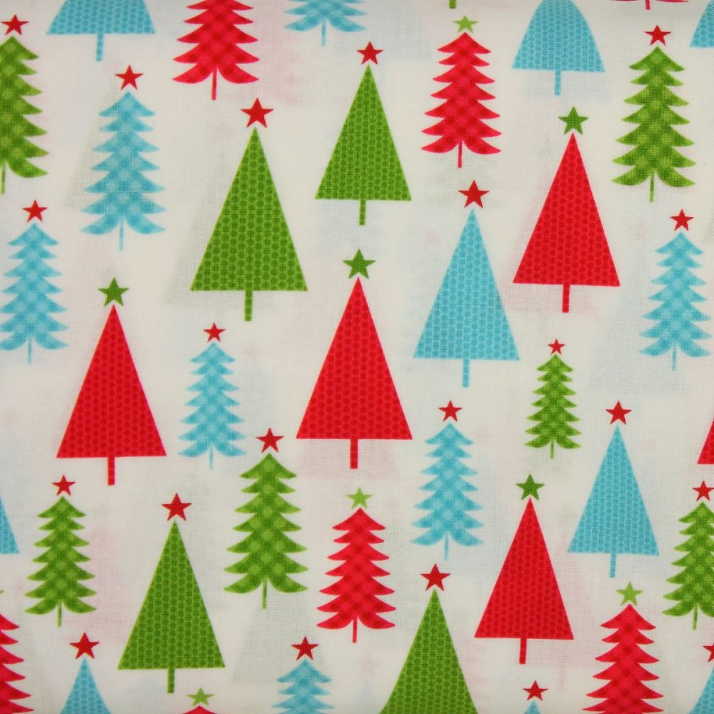 Jolly Trees 100% Cotton Patchwork Quilting Fabric