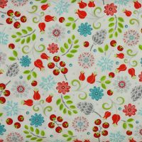 First Frost small floral print on white - 100% quilting cotton (£13pm)