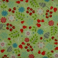 First Frost small floral print on lime - 100% quilting cotton (£13pm)