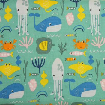 Ocean Animals by Dashwood Studio - 100% quilting cotton (£12.60pm)