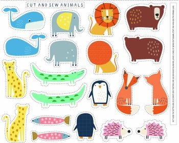 Cut and Sew Animal panel by Dashwood Studio - 100% quilting cotton