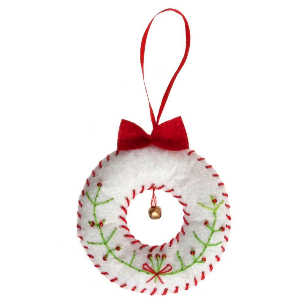 Christmas Wreath Felt Kit