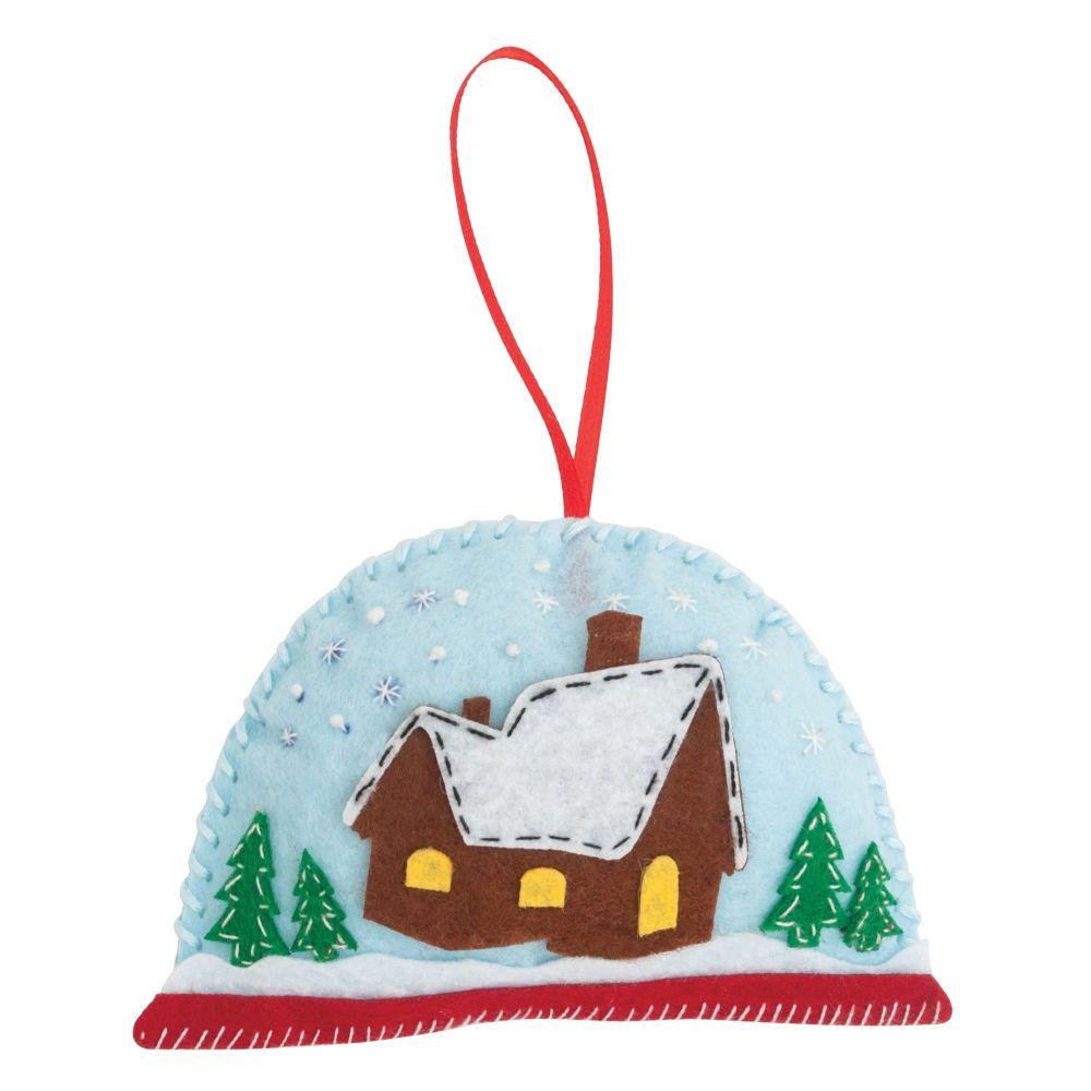 Christmas Snow Globe Felt Kit