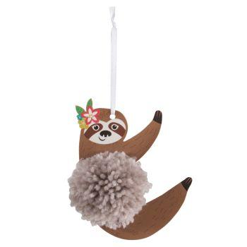 Pom Pom Decoration Kit - Sloth