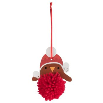 Pom Pom Decoration Kit - Robin