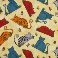 Colorful Cats on Vanilla (£13pm)