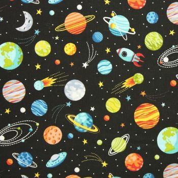 Outer Space Planets in black (£12pm)