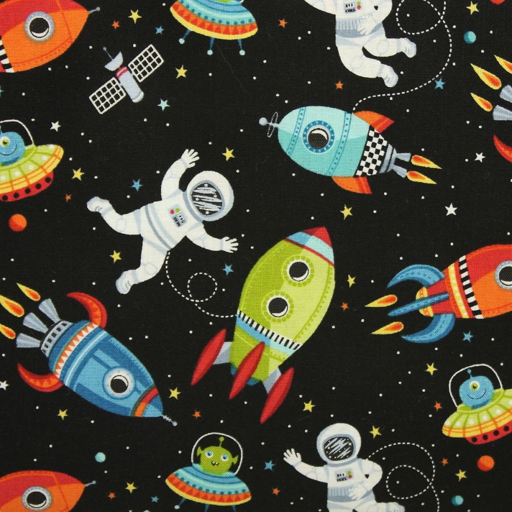 Outer Space Scene in black