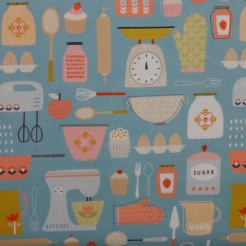 Hobbies Baking 100% Cotton Patchwork Quilting Fabric (£12.60pm)