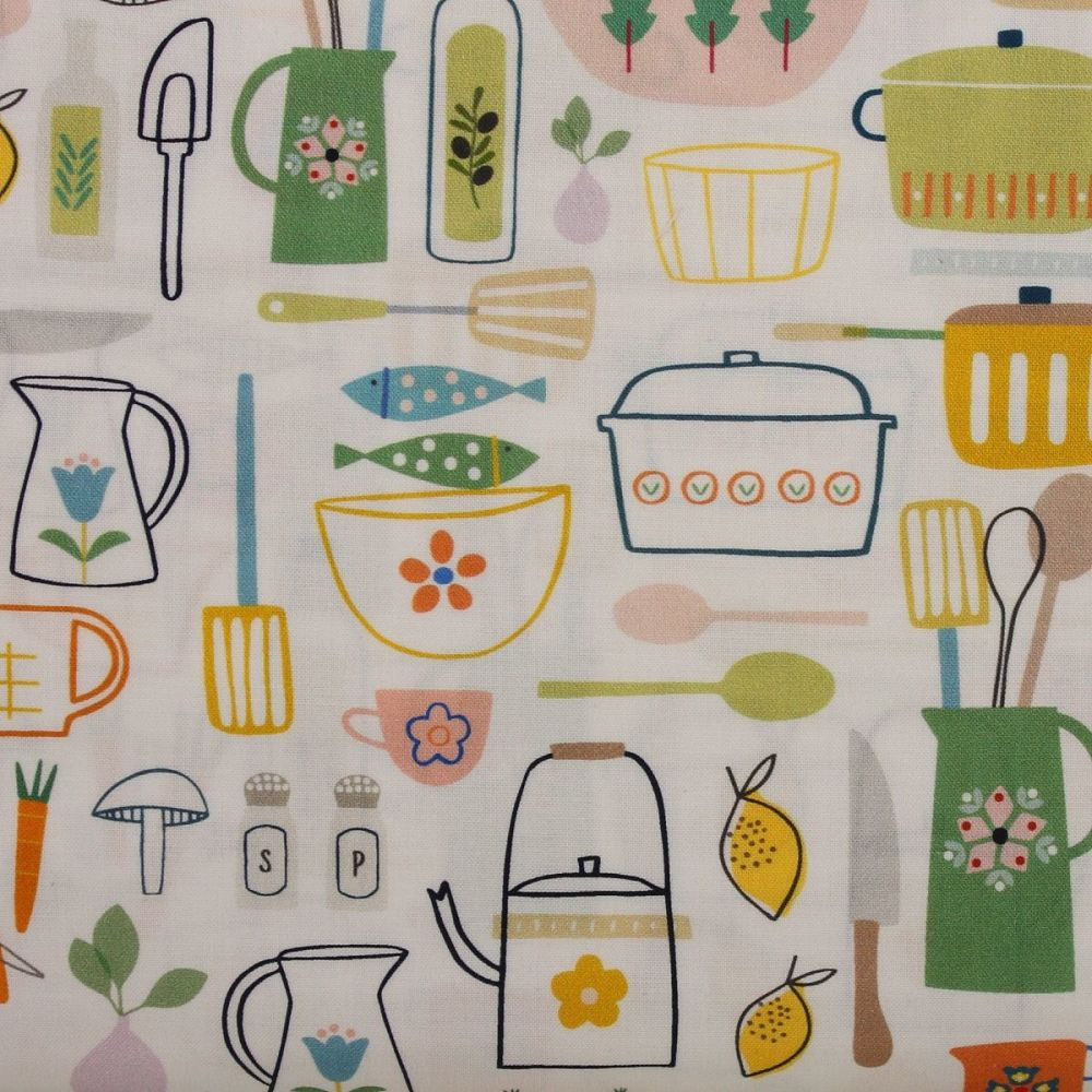 Hobbies Cooking 100% Cotton Patchwork Quilting Fabric (£12.60pm)