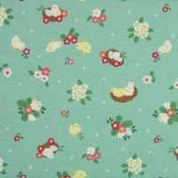 Bunny Hop - Chicks on spring green (£12.60pm)