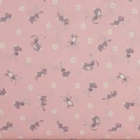 Bunny Hop - Bunnies on Pink (£12.60pm)