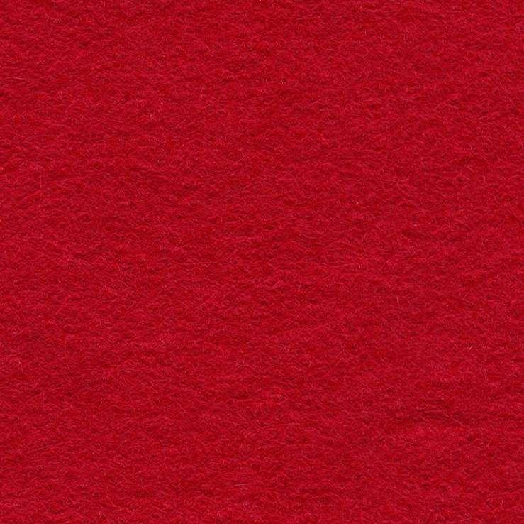 Wool Mix Felt - Crimson