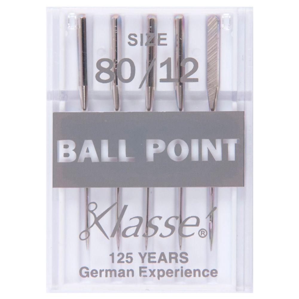 Hemline Machine Needles - Ball Point 80/12