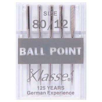 Klasse Machine Needles - Ball Point 80/12