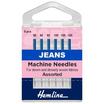Hemline Machine Needles - Jeans Assorted