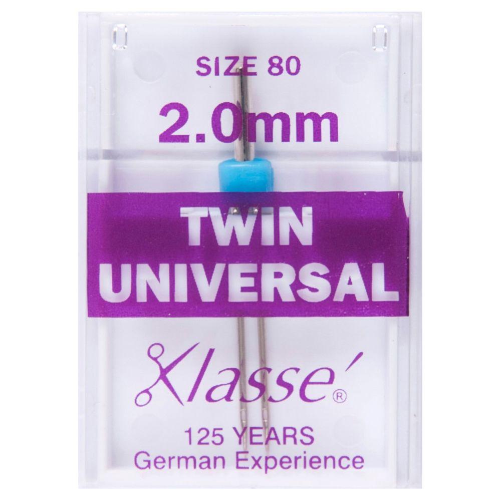 Klasse Machine Needles - Twin Universal 2.0mm