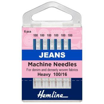 Hemline Machine Needles - Jeans Heavy 100/16