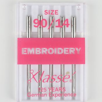 Klasse Machine Needles - Embroidery 90/14
