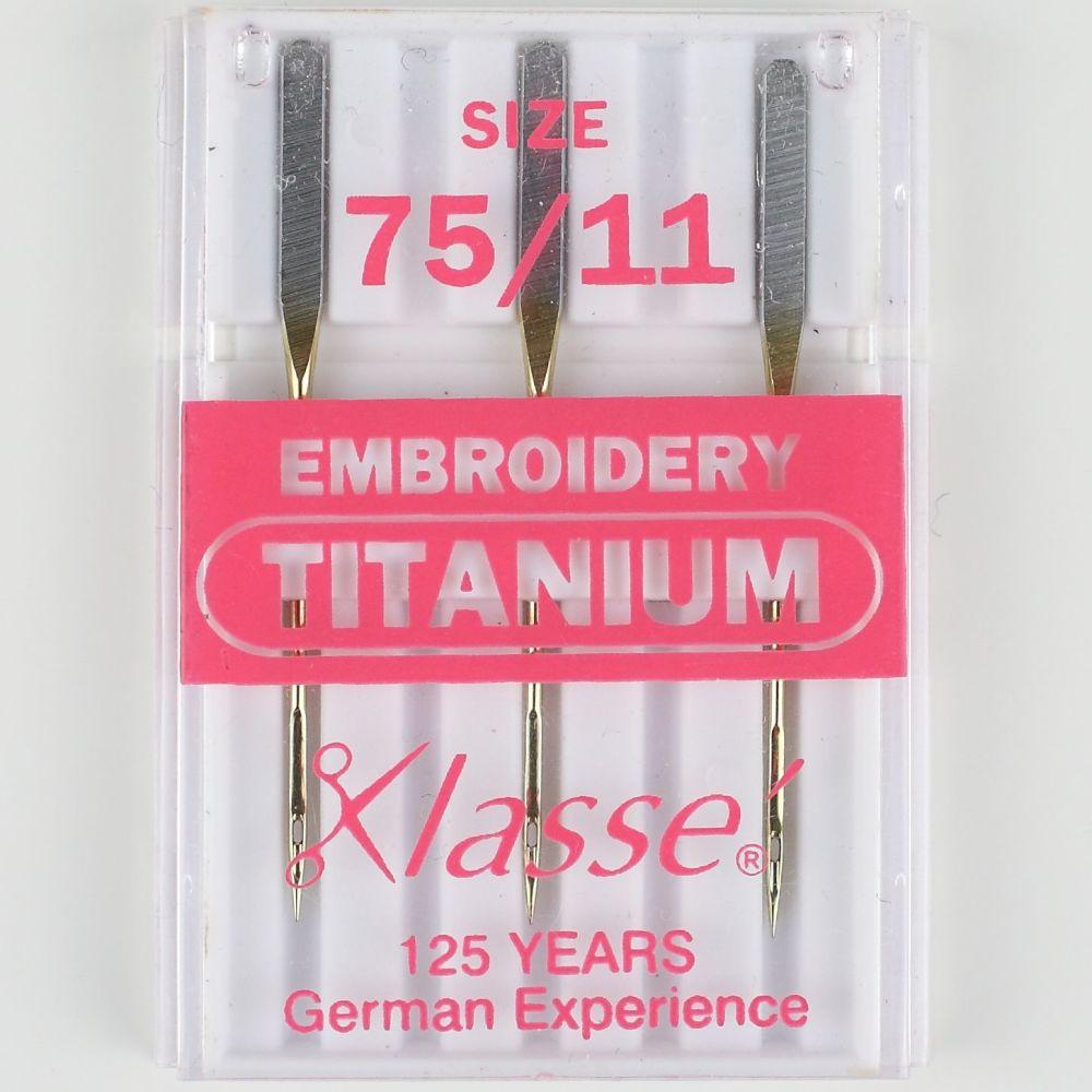 Klasse Machine Needles - Embroidery Titanium 75/11
