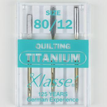 Klasse Machine Needles - Quilting Titanium 80/12