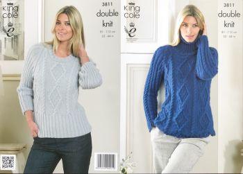 King Cole Knitting Pattern 3811 Sweaters