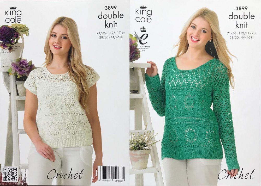 King Cole Crochet Pattern 3899 Sweater & Top