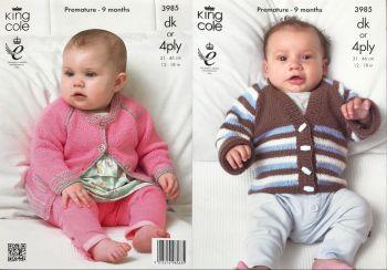 King Cole Knitting Pattern 3985 Cardigans