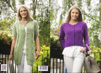 King Cole Knitting Pattern 4074 Cardigans