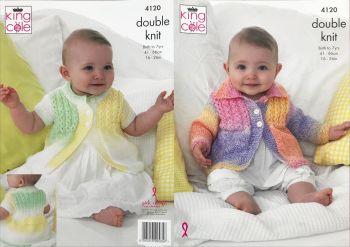 King Cole Knitting Pattern 4120 Coats