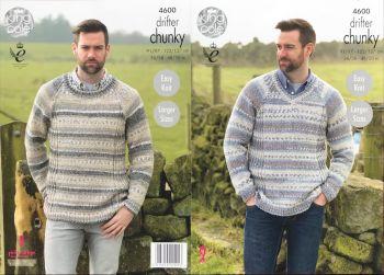 King Cole Knitting Pattern 4600 Mens Sweaters