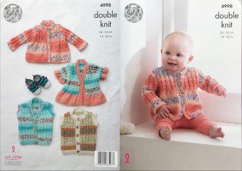 King Cole Knitting Pattern 4998 Jackets & Gilets