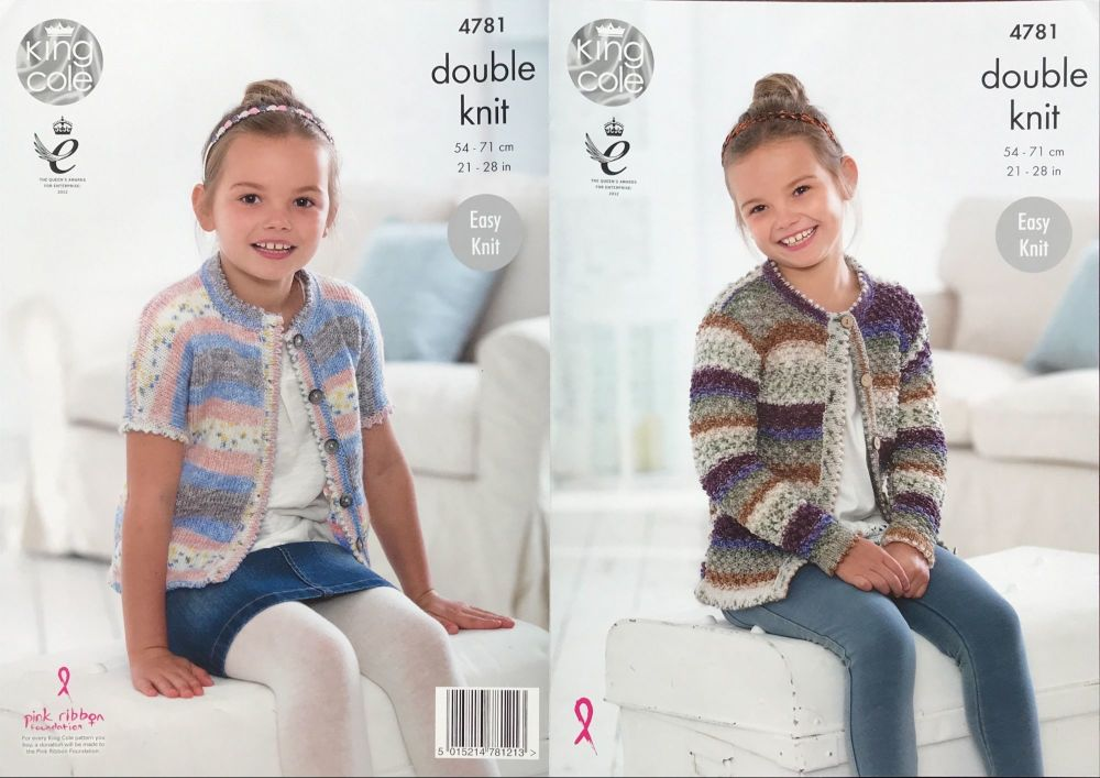 King Cole Pattern 4781 Cardigans