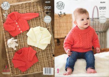 King Cole Knitting Pattern 4644 Cardigans & Sweater