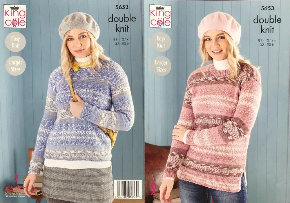 King Cole Pattern 5653 Sweater & Tunic
