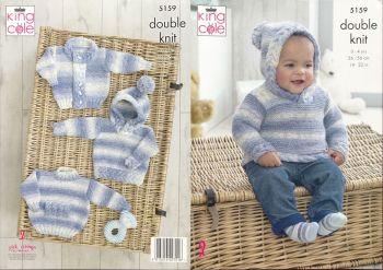 King Cole Knitting Pattern 5159 Sweaters & Jacket