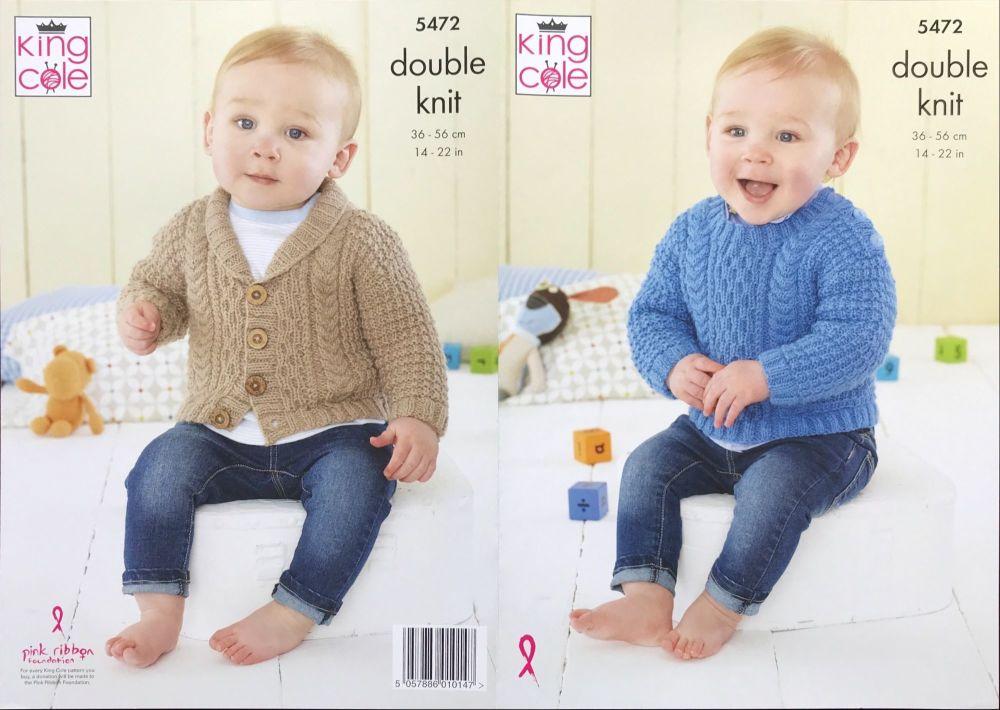 King Cole Pattern 5472 Babies Sweater & Jacket