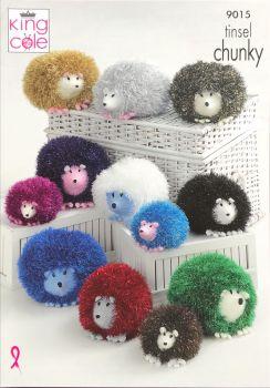 King Cole Pattern 9015 Large, Medium & Small Hedgehogs