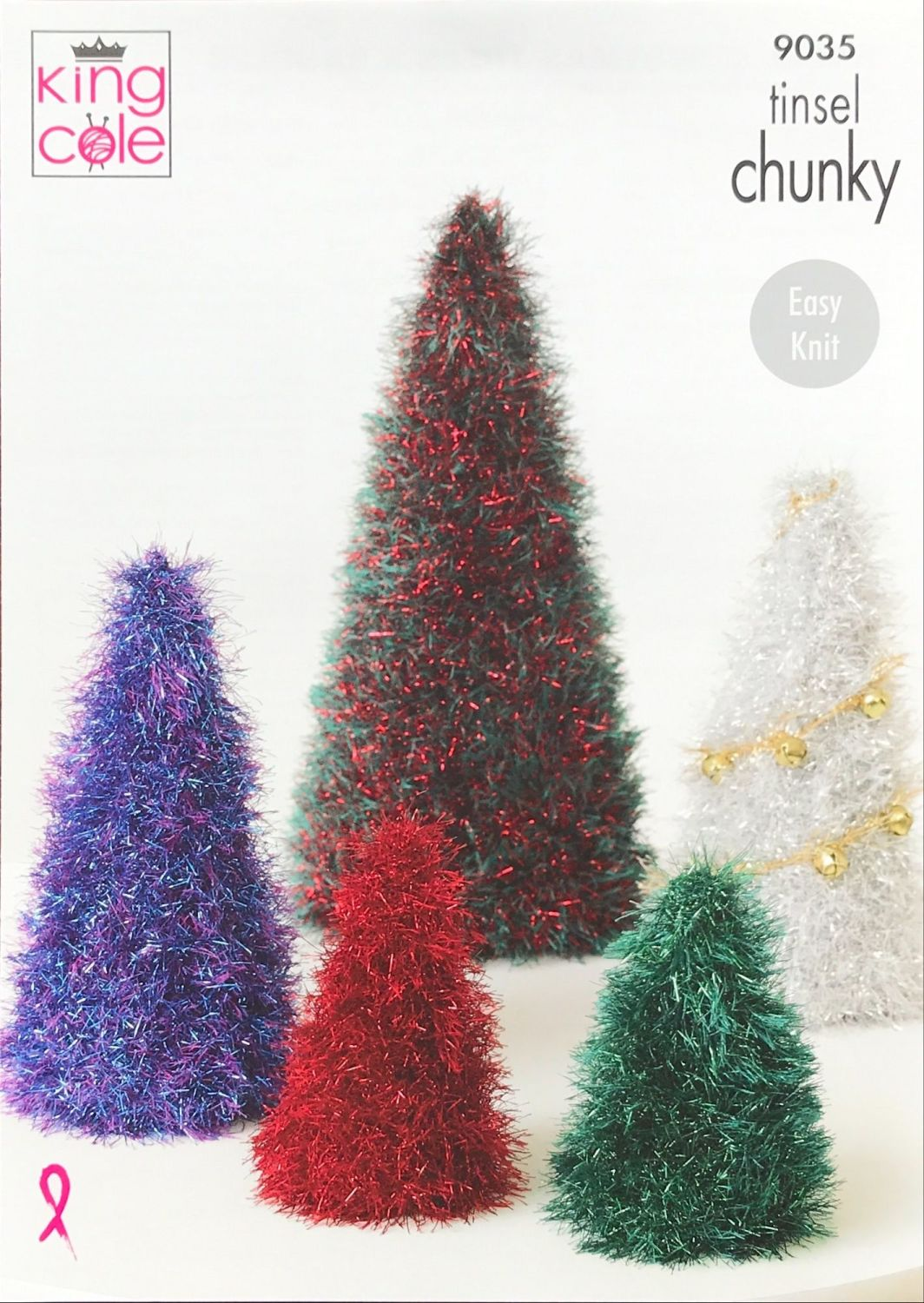 King Cole Pattern 9030 Tinsel Christmas Trees & Baubles