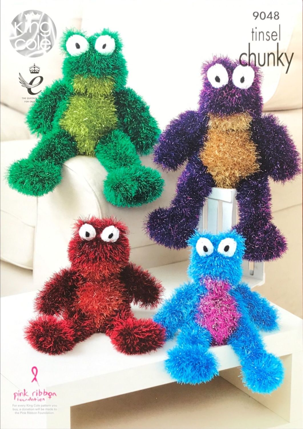 King Cole Pattern 9048 Tinsel Frogs