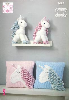 King Cole Pattern 9087 Unicorn & Cushion
