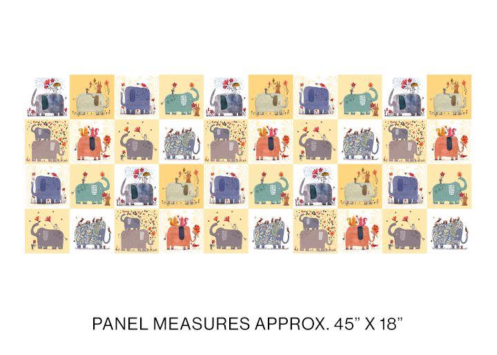 Elephant Joy - Elephant Joy Panel Yellow/Multi