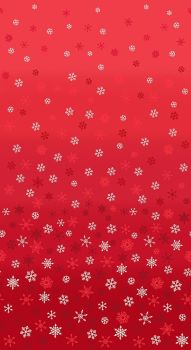 Christmas 21 Scandi - Ombre snowflakes Red (£12pm)