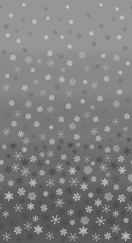 Christmas 21 Scandi - Ombre snowflakes Silver (£12pm)