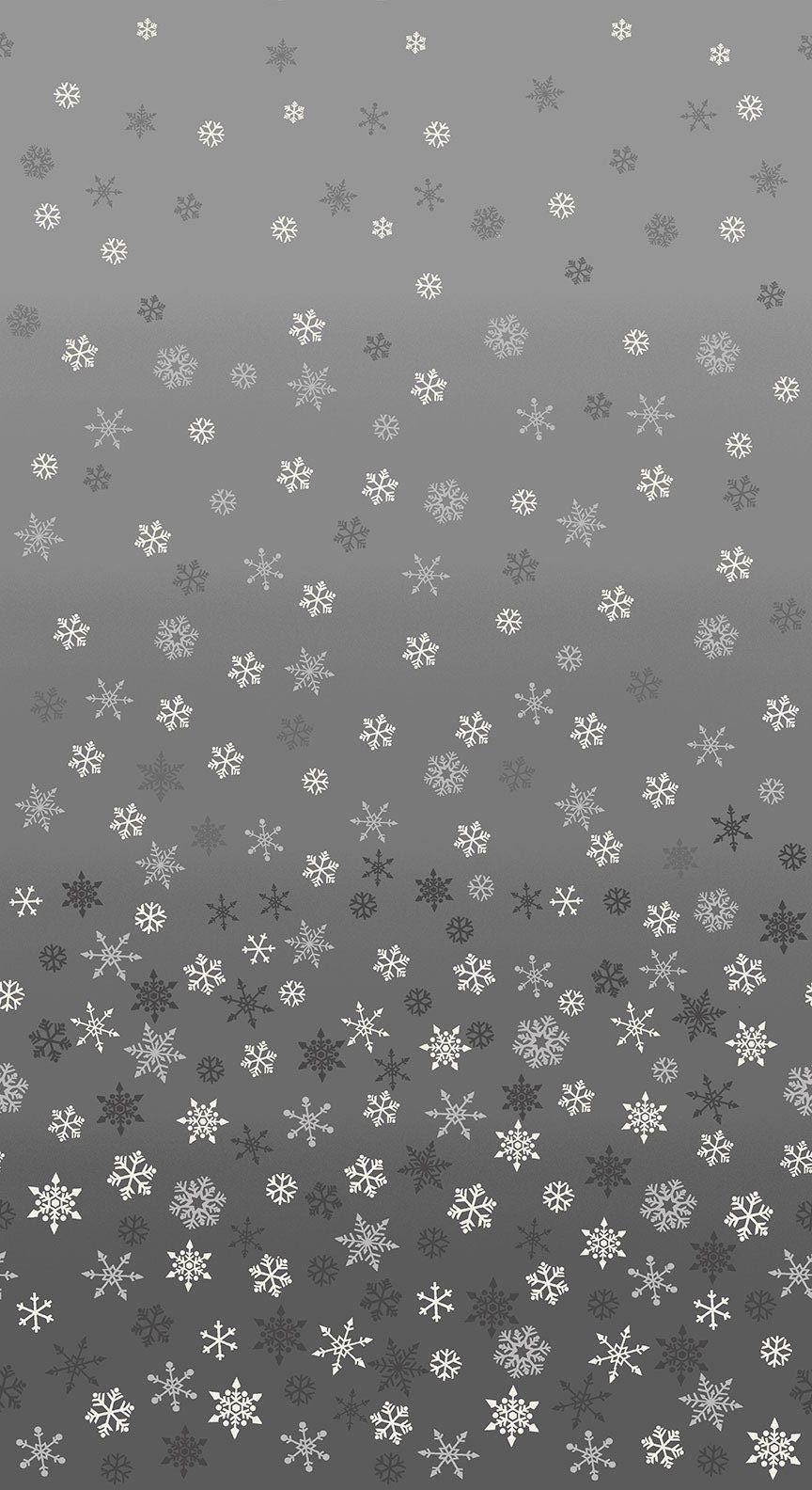 Christmas 21 Scandi - Ombre snowflakes Silver