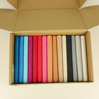 Dashwood Twist 15 Fat Quarter plain fabric bundle box