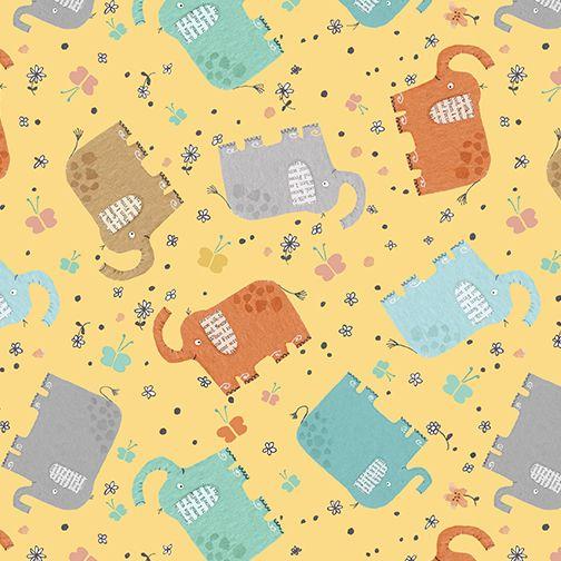 Elephant Joy by Benartex