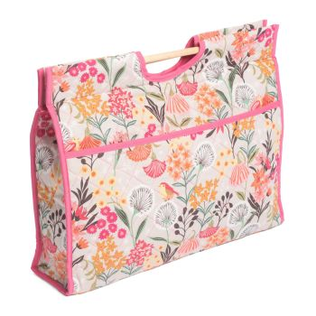 Floral Quilted Knitting Bag