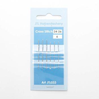 Hand Sewing Needles - Cross Stitch 24 & 26